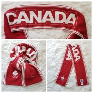 HBC Olympic Team Canada Red and White Winter Scarf